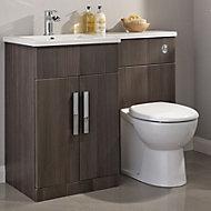 Cooke & Lewis Ardesio Bodega grey LH Vanity & toilet pack
