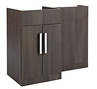 Cooke & Lewis Ardesio Bodega grey Left-handed Vanity & toilet unit