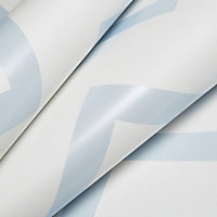 Baby Colours Little chevron Blue Mica effect Smooth Wallpaper