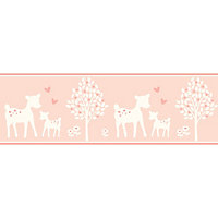 Baby Colours Little deer Pink Mica effect Border