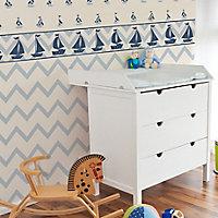 Baby Colours Little sailor Blue Mica effect Border