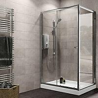Plumbsure Rectangular Shower enclosure with Single sliding door (W)1200mm (D)760mm