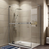 Cooke & Lewis Grandeur Rectangular Shower enclosure with Single sliding door (W)1400mm (D)900mm