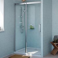 Cooke & Lewis Carmony Shower door with Single sliding soft close door (W)1200mm