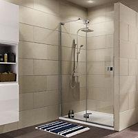 Cooke & Lewis Luxuriant Shower door with Hinged door (W)1400mm