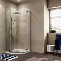 Cooke & Lewis Luxuriant Quadrant Shower enclosure with Hinged door (W)900mm (D)900mm