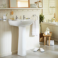 Plumbsure Truro Round Full pedestal basin