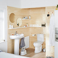Plumbsure Falmouth Contemporary Close-coupled Toilet with Soft close seat