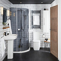 Cooke & Lewis Affini Contemporary Close-coupled Toilet with Soft close Seat
