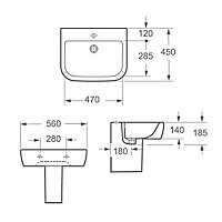 Cooke & Lewis Affini Semi-pedestal Basin