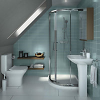 Cooke & Lewis Lanzo Square Wall-mounted Cloakroom Basin