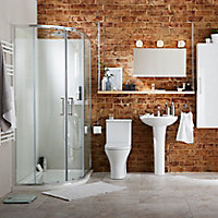 Cooke & Lewis Angelica Curved Wall-mounted Corner cloakroom Basin