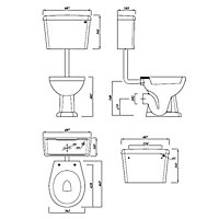 Cooke & Lewis Serina Traditional Toilet with Soft close seat