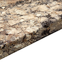 38 Carnival granite Grey Marble effect Laminate Kitchen (L)3600mm