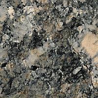 38mm Carnival granite Grey Marble effect Laminate Round edge Kitchen Breakfast bar Worktop, (L)2000mm