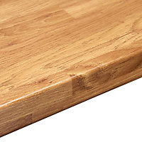38mm Colmar oak Wood effect Laminate Round edge Kitchen Worktop, (L)3000mm