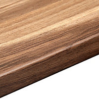 38mm Colorado oak Wood effect Laminate Round edge Kitchen Breakfast bar Worktop, (L)3000mm