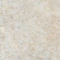 38mm Natural stone Brown Marble effect Round edge Laminate Worktop (L)3m (D)600mm