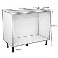 Cooke & Lewis White Multi-drawer Base cabinet, (W)1000mm