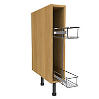 Cooke & Lewis Base cabinet Oak effect Pull out storage, (H)870mm (W)150mm