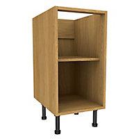 Cooke & Lewis Oak effect Standard Base cabinet, (W)400mm