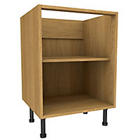 Cooke & Lewis Oak effect Standard Base cabinet, (W)600mm