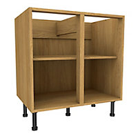 Cooke & Lewis Oak effect Standard Base cabinet, (W)800mm