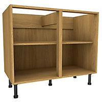 Cooke & Lewis Oak effect Standard Base cabinet, (W)1000mm