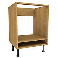 Cooke & Lewis Oak effect Oven housing Base cabinet, (W)600mm