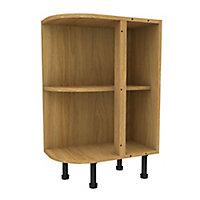 Cooke & Lewis Oak effect Curved end Base cabinet, (W)335mm