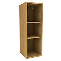 Cooke & Lewis Oak effect Tall Standard Wall cabinet, (W)300mm