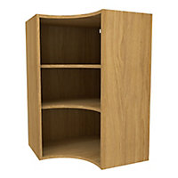 Cooke & Lewis Oak effect Tall Curved corner Wall cabinet, (W)625mm