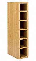 Cooke & Lewis Oak effect Wine rack, (H)720mm (W)150mm