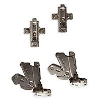 Cooke & Lewis Soft-close 155° Soft-close Frameless Cabinet hinge, Pack of 2