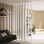 Ella White Slatted Adjustable height Room divider, Pack of 5