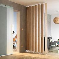 Ella Slatted Adjustable height Room divider, Pack of 5