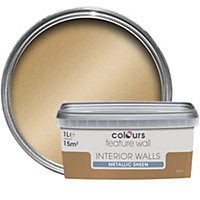 Colours Feature wall Gold effect Emulsion paint 1L