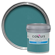 Colours Tester Barbados blue Matt Emulsion paint 0.05L Tester pot