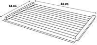 Silver Gloss Wire shelf (L)580mm (D)380mm