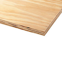 Smooth Natural Softwood Plywood Board (L)2.44m (W)1.22m (T)12mm