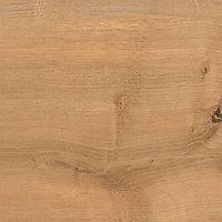 38mm Arlington Oak effect Laminate Square edge Kitchen Right-hand curved Worktop, (L)1800mm