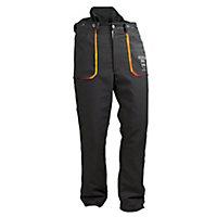 "Oregon Yukon Black & orange Chainsaw trousers (W)35"" (L)30"""