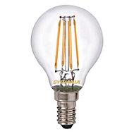 Sylvania E14 4W LED filament Round ToLEDo retro light bulb