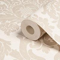 Gold Kensington Gold effect Textured Wallpaper