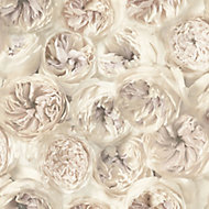 A.S. Creation Wall Fashion Facade Cream Floral Embossed Wallpaper