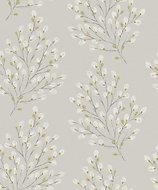 Grandeco Willow Grey & yellow Tree Matt Wallpaper