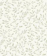 Grandeco Nerine Sage green Leaf Embossed Wallpaper
