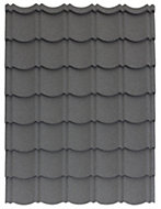 Grey Alu-zinc coated steel Easy-cover roofing sheet 1.2m x 800mm, Pack of 1