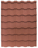 Red Alu-zinc coated steel Easy-cover roofing sheet 1.2m x 800mm, Pack of 1