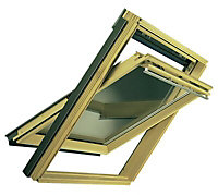 VELUX Nordic pine Centre pivot Roof window (H)1180mm (W)660mm